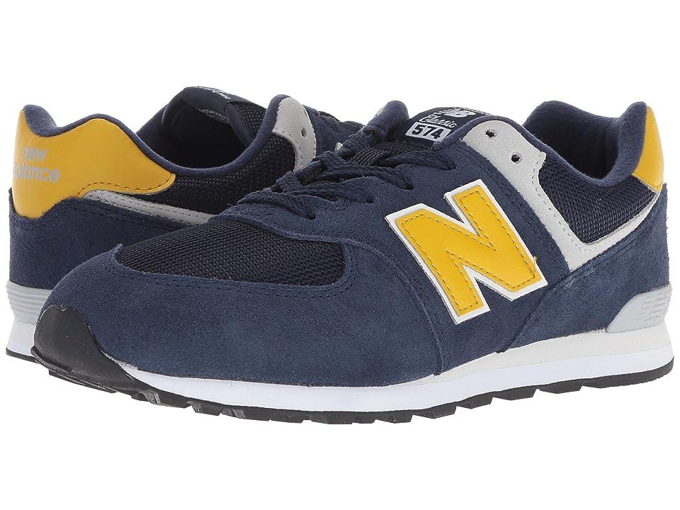 New Balance Kids GC574v1 (Big Kid) (Pigment/Brass) Boys Shoes