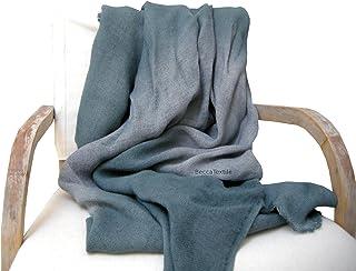 Manta decorativa gris, Colección Linos, manta de sofá de tejido natural, BeccaTextile.