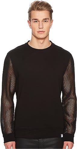 Versace Collection - Mesh Sleeve Sweatshirt