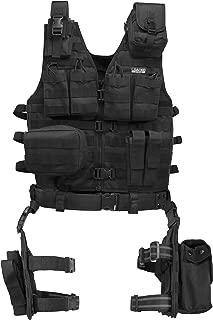 BARSKA Men's Loaded Gear VX-100 Tactital Vest and Leg Platform - BI12016
