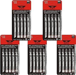 Hojas de sierra de calar de la marca TopsTools T101D para Bosch, DeWalt, Makita, Milwaukee y muchos más (25 unidades)