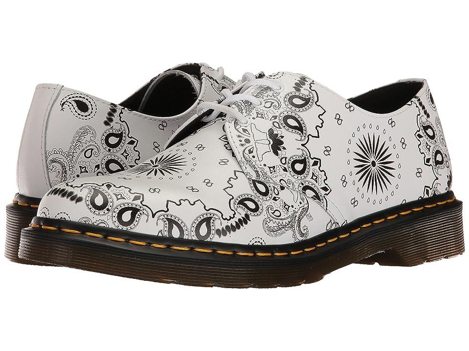 Dr. Martens 1461 (White/Black Bandana Backhand) Industrial Shoes