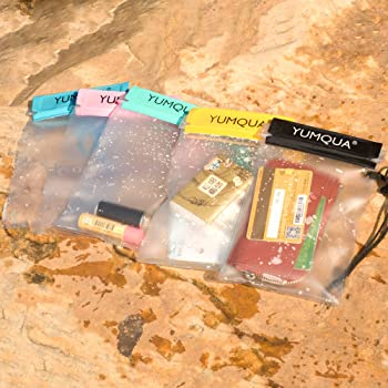 YUMQUA Clear Waterproof Bags, Water Tight Cases Pouch Dry Bags for Camera Mobile Phone Maps Pouch Kayak Military Boat...