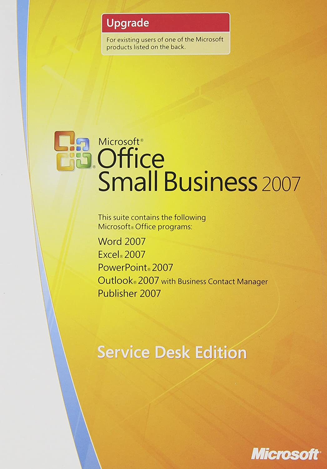 Factory outlet Microsoft Office Small Business 2007 40% OFF Cheap Sale Edit Service UPGRADE Desk -