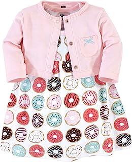Hudson Baby Baby Girls Cotton Dress and Cardigan Set