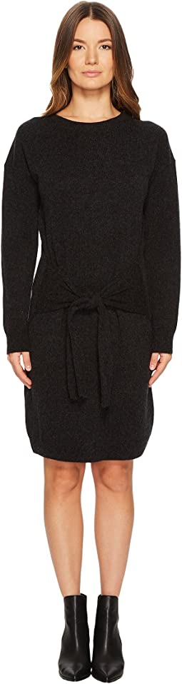Vince - Long Sleeve Tie Waist Dress