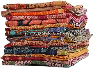 Stylo Culture Indian Gudri Kantha Quilt Wholesale Twin Printed Kantha Bengali Gudri Throw Bohemian Quilt Vintage Ralli Gudri lot of 50 Pc