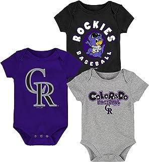 MLB Newborn Infants Everyday Fan 3 Piece Bodysuit Creeper Set