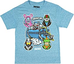 Mad Engine Fortnite Shirt Boys' Squad Up! Battle Bus Licensed T-Shirt