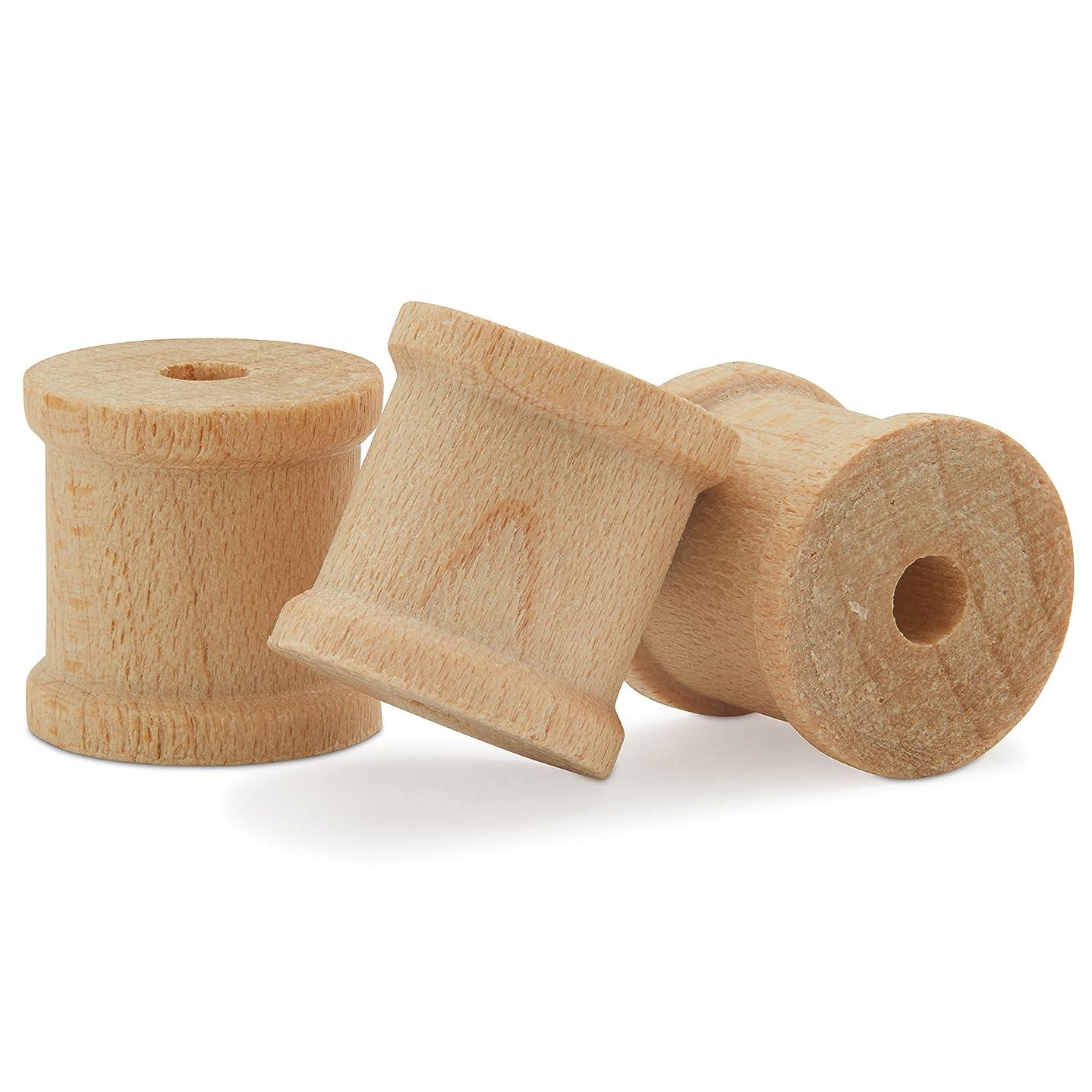 Mini Unfinished Wooden Spools 1/2