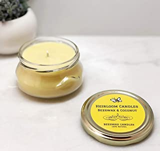 coconut oil and beeswax candle