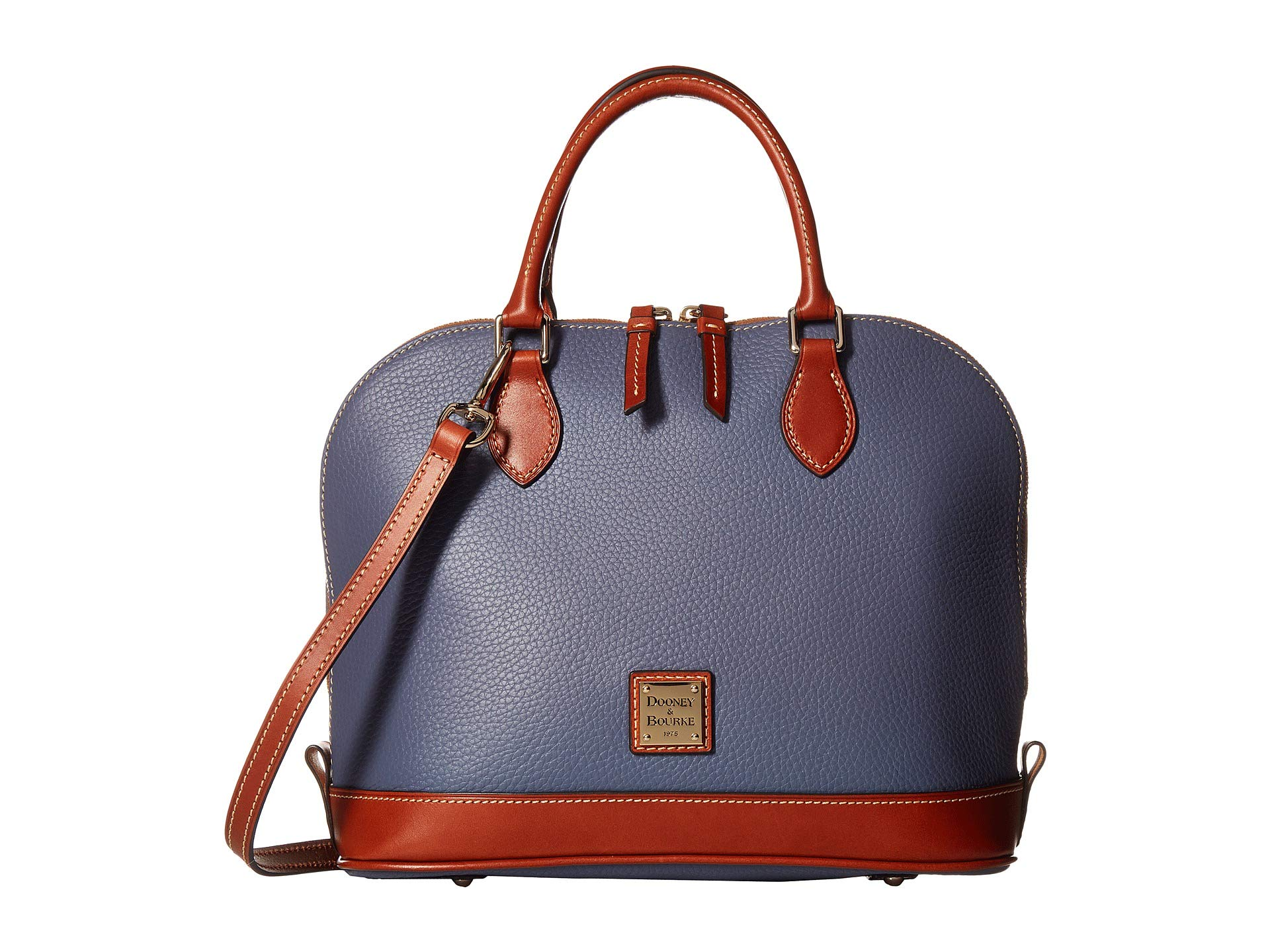 Pebble tan Bourke Trim Satchel Zip Steel Dooney amp; Blue wB7xaU4
