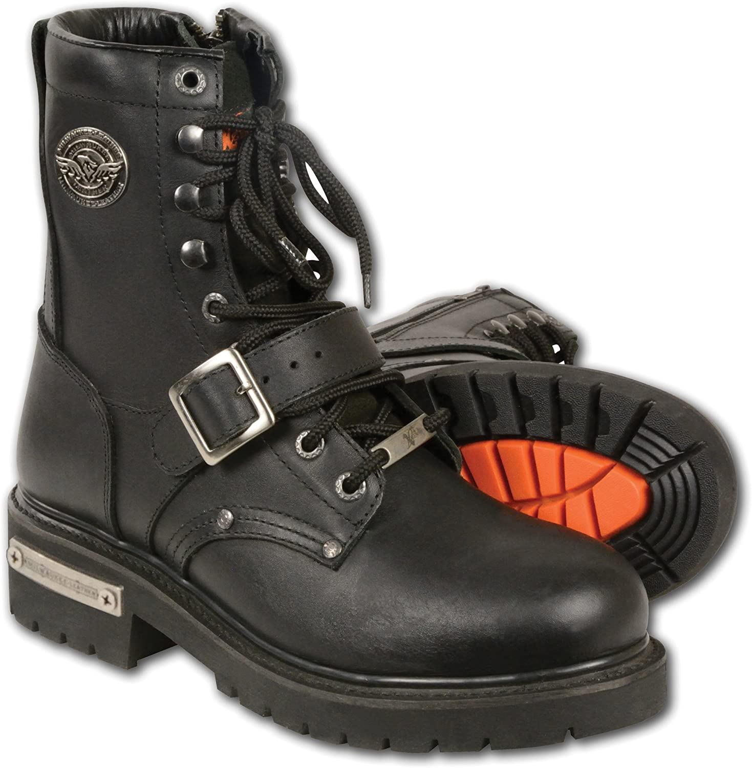 Milwaukee Leather Men's Classic Motorcycle Boots (Black, Size 7)