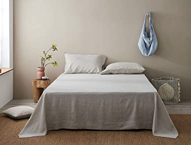 Pure Linen Flat Sheet Twin