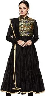 BIBA Women's Anarkali Cotton Silk Suit Set