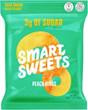 Sponsored Ad - SmartSweets Peach Rings, Candy with Low Sugar (3g), Low Calorie, Plant-Based, Free From Sugar Alcohols, No ...