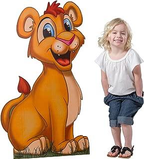 3 ft. Jungle Safari Lion Cardboard Cutout Standee Standup Prop Party Supplies Decorations Decor Backdrop Background
