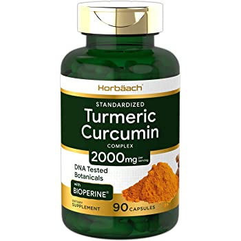 Turmeric Curcumin with Bioperine | 2000 mg 90 Capsules | Non-GMO, Gluten Free Supplement | by Horbaach
