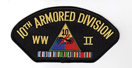 10th Armored Division WWII Hat Patch
