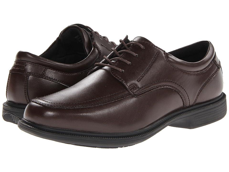 Nunn Bush Bourbon Street Moc Toe Oxford with KORE Slip Resistant Walking Comfort Technology (Brown) Men