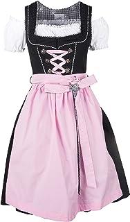 Ramona Lippert Damen Dirndl Pia 3-teilig in rosa - Dirndlkleider für Jede Größe - wunderschönes Trachtenkleid - Tracht mit Schürze