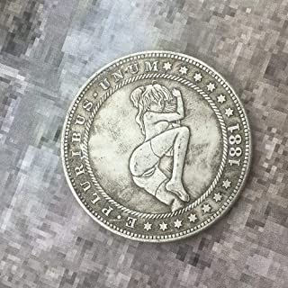 MerryXD Morgan Coins - 1881 Hobo Nickel Coin - Old Coin Collecting-USA Old Morgan Dollar - Commemorative Gift Coin - Plated Silver Replica Coins and Handmade Crafts Love it Style 4