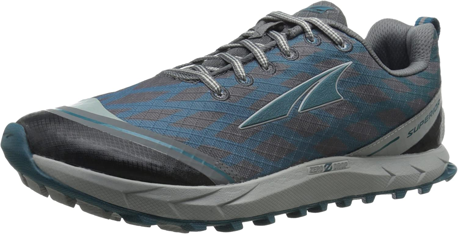 Altra Women's Superior 2 Trail Running shoes, Pewter Atlantic, 6.5 M US