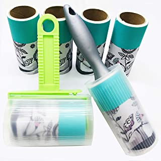 Highlight Lint Roller Combo Pack, 2-Rollers Brush & 4-Refills 360 Sheets, Super Sticky Pet Hair Remover Kit, Adhesive Lint Brush for Clothes, Carpet, Car Seats, Dust, Dogs, Cats