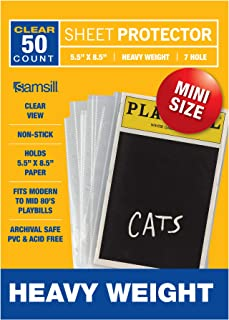 Samsill Playbill Protectors/Clear Mini Sheet Protectors 5.5