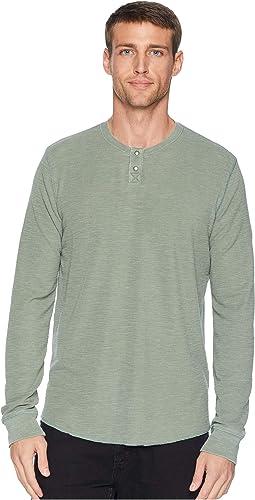 Burnout Thermal Snap Notch Neck Shirt