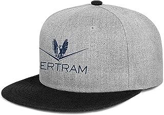 NINETYRW Trendy Mens Snapbacks Caps Bertram-Capital-Logo- Baseball Cap Hip Hop Cotton Adjustable Flat Bill Cap