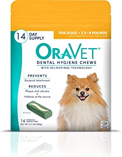 OraVet Dental Hygiene Chew for X-Small Dogs (up to 10 lbs), Dental Treats for Dogs, 14 Count