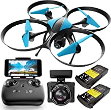 Force1 U49WF Drone with Camera for Adults - WiFi FPV Drone, VR Headset Compatible with 720P HD Drone Camera and 2 Extra Dr...