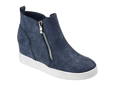 Journee Collection Pennelope Sneaker Wedge (Blue) Women