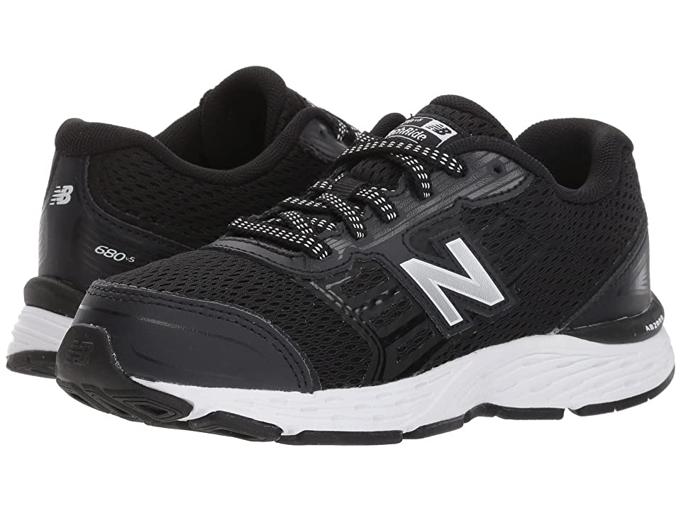 New Balance Kids KR680v5Y (Little Kid/Big Kid) (Black/White) Boys Shoes