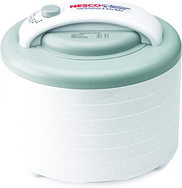 NESCO FD-61WHCK, Food Dehydrator with Jerky Gun, White, 6 trays, 500 watts