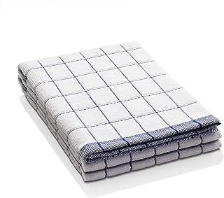 E-Cloth Classic Check Microfiber Dish Towel, Blue, 2 Count