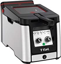T-Fal FR600D51 Odorless Easy Clean Deep Fryer with Filtration System, 3.5-Liter, Stainless Steel