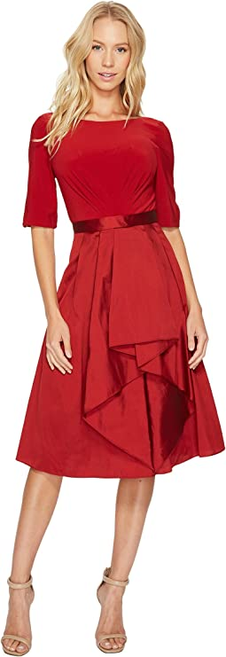 Adrianna Papell Origami Taffeta and Jersey Dress