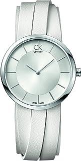 Calvin Klein Womens Analogue Quartz Watch with Leather Strap K2R2S1K6
