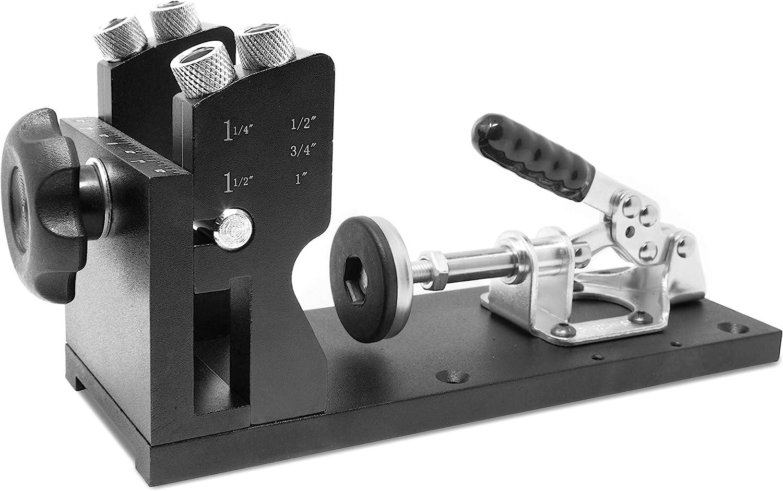 WEN WA1527 Metal Pocket Hole Jig Kit Step with L-Base Drill Superior New item Bit