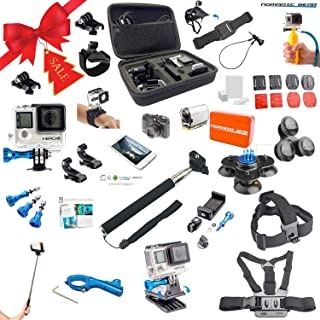 Nomadic Gear Universal Advanced Accessory kit with Epic Photo Shooting 101 ebook for GoPro, Sony Action Camera, Garmin, Ricoh Action Cam, SJCAM and Smartphones (41 Items)