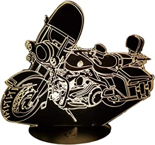 HARLEY DAVIDSON Road King, Lampada illusione 3D con LED - 7 colori.