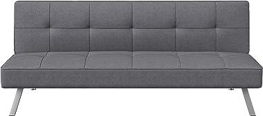 Serta Rane Collection Convertible Sofa, L66.1 x W33.1 x H29.5, Charcoal