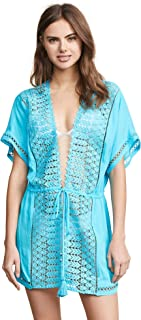 Ramy Brook Womens C1117800 Costa Tie Front Cover Up Dress Swimwear Cover-Up