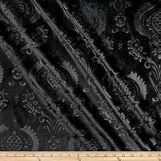 black velvet damask fabric