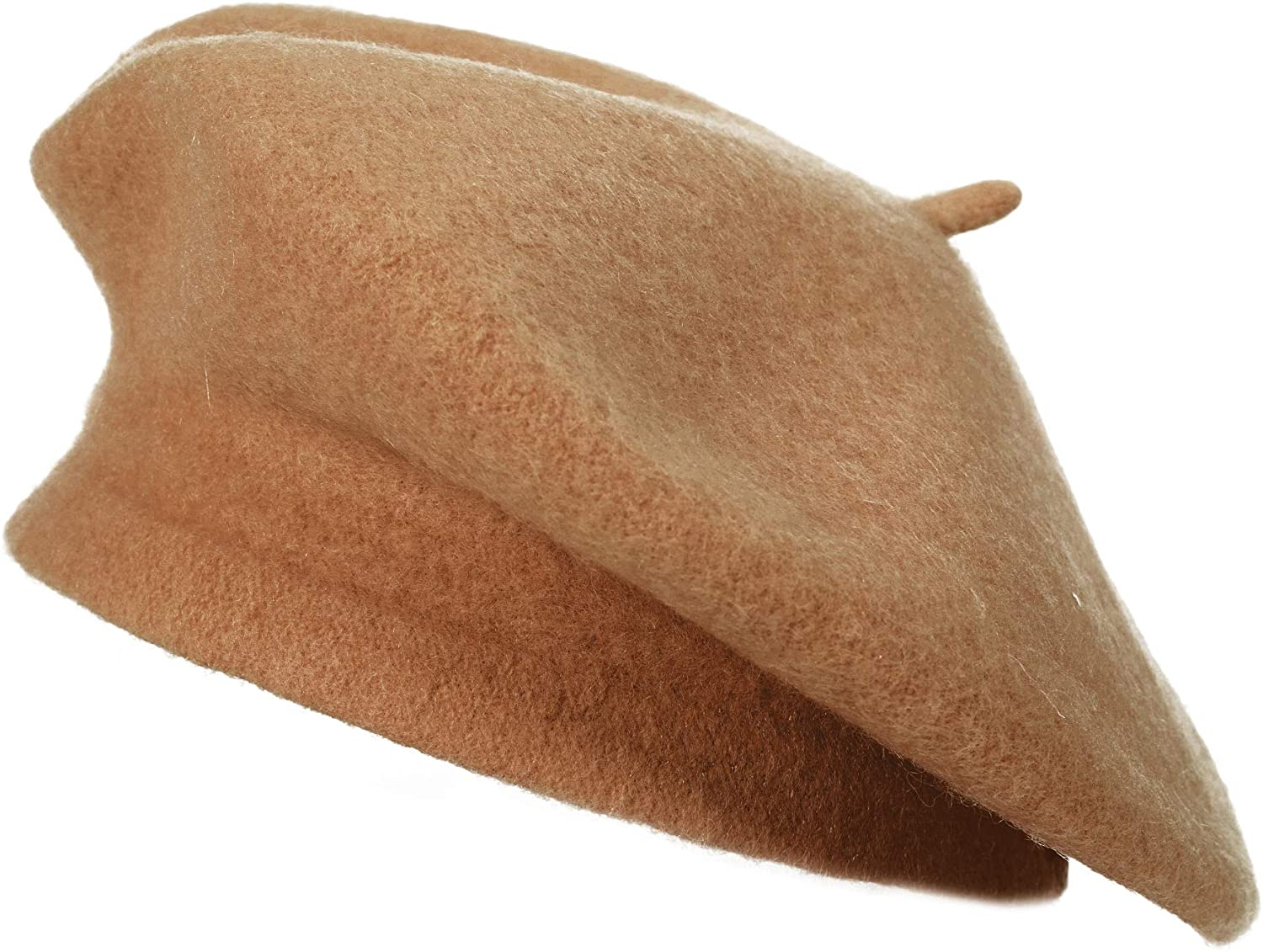 ZLYC Wool French Beret Hat Solid Color Beret Cap for Women Girls
