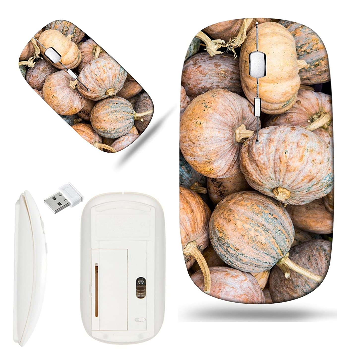 Luxlady Wireless Mouse White Base Travel 2.4G Wireless Mice with USB Receiver, 1000 DPI for notebook, pc, laptop,mac design IMAGE ID: 34431117 Fresh pumpkins on sale stand Thailand svlrydthnxx704