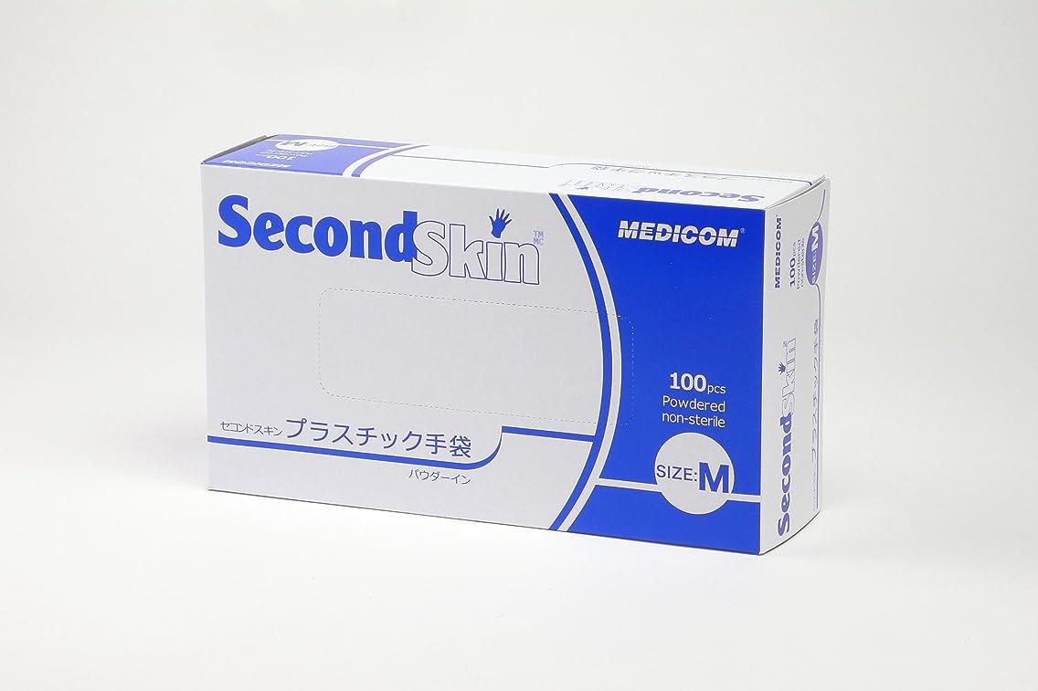 伝えるミルク単位セコンドスキン プラスチック手袋 Mサイズ 100枚入