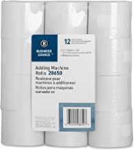 Business Source Receipt Paper 2.25 Inch x 150 Pack of 12 Rolls - White (28650)